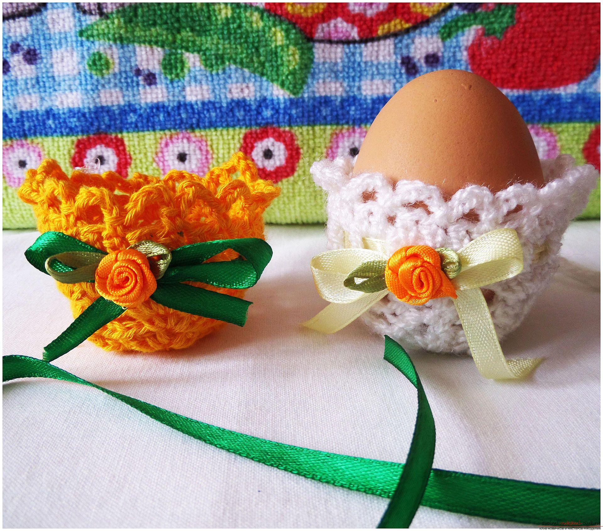 пасхальные яйца из бисера крючком схемы