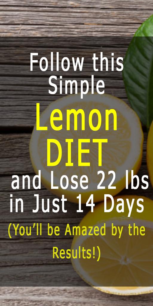 Zitrone, um Gewicht in 14 Tagen zu verlieren
