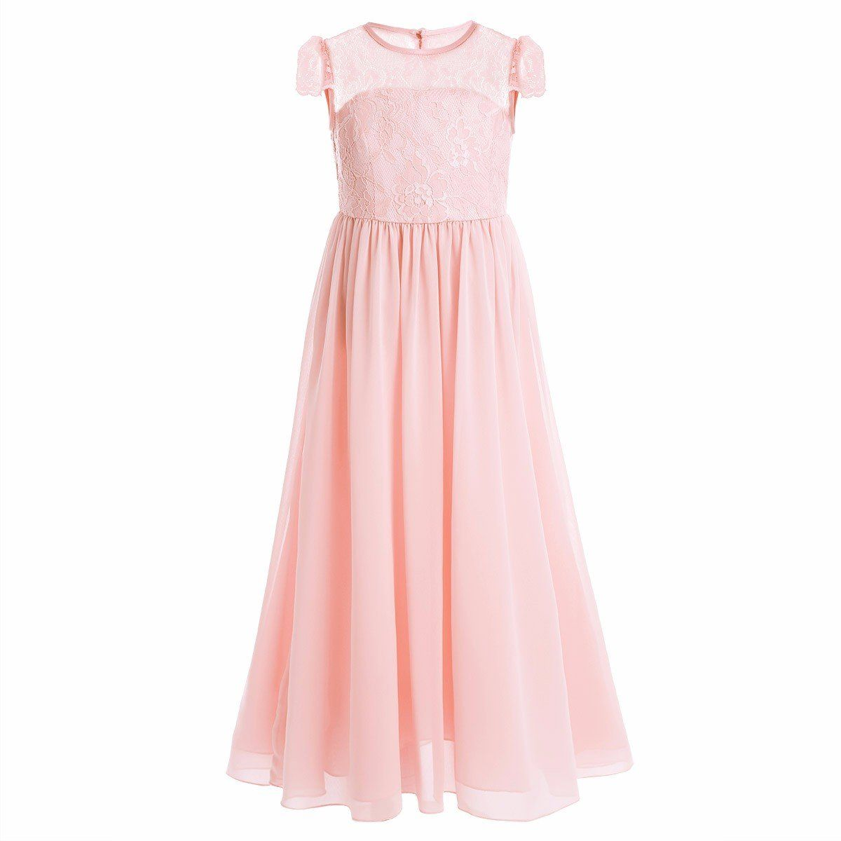 2a38417bab3 FEESHOW Big Girls Floral Lace Dress Chiffon Junior Bridesmaid Wedding Party  Graduation Pearl 4. Kids