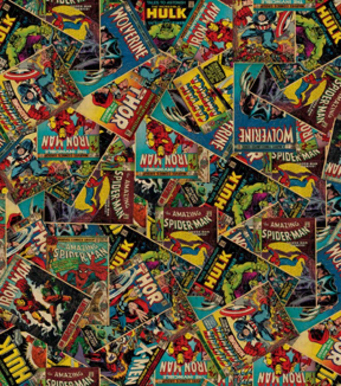 "Marvel Marvel Comics Cotton Fabric 44"""