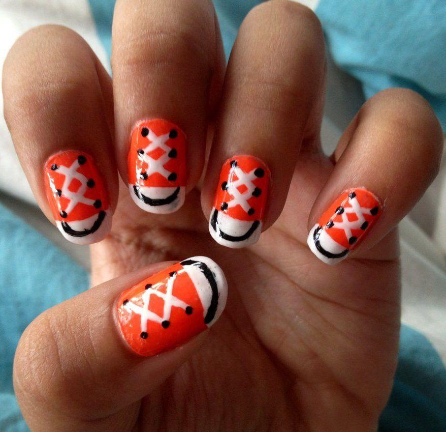 Nail Art Couture Converse Nail Art: Converse Nails, Nails, Converse Nail Art