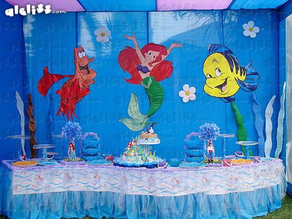 Fiestas infantiles decoración la sirenita - Imagui