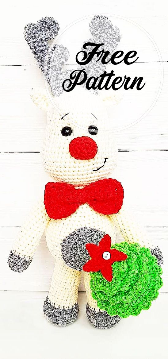 Cool and Free Deer Amigurumi Crochet Pattern for Chirstmas #christmascrochetpatterns