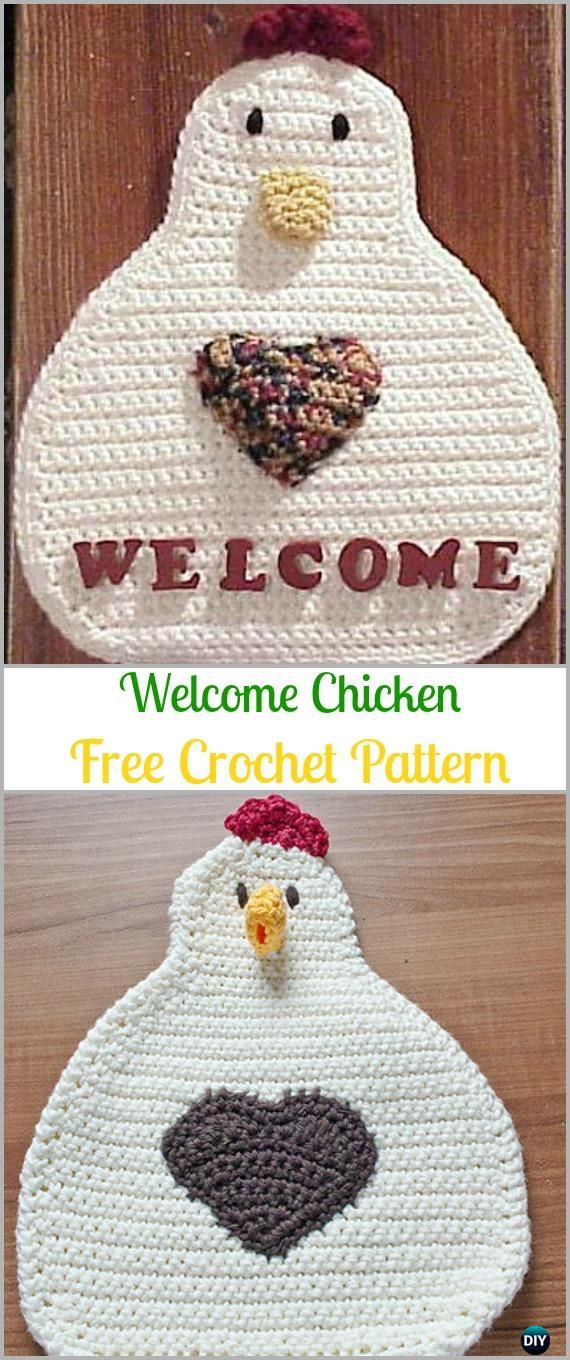 Crochet Welcome Chicken Free Pattern -Easter Crochet Chicken ...