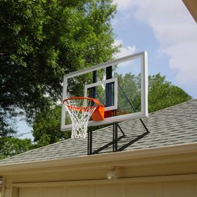 Roof king garage basketball hoop backboard combo for for Basketball garage