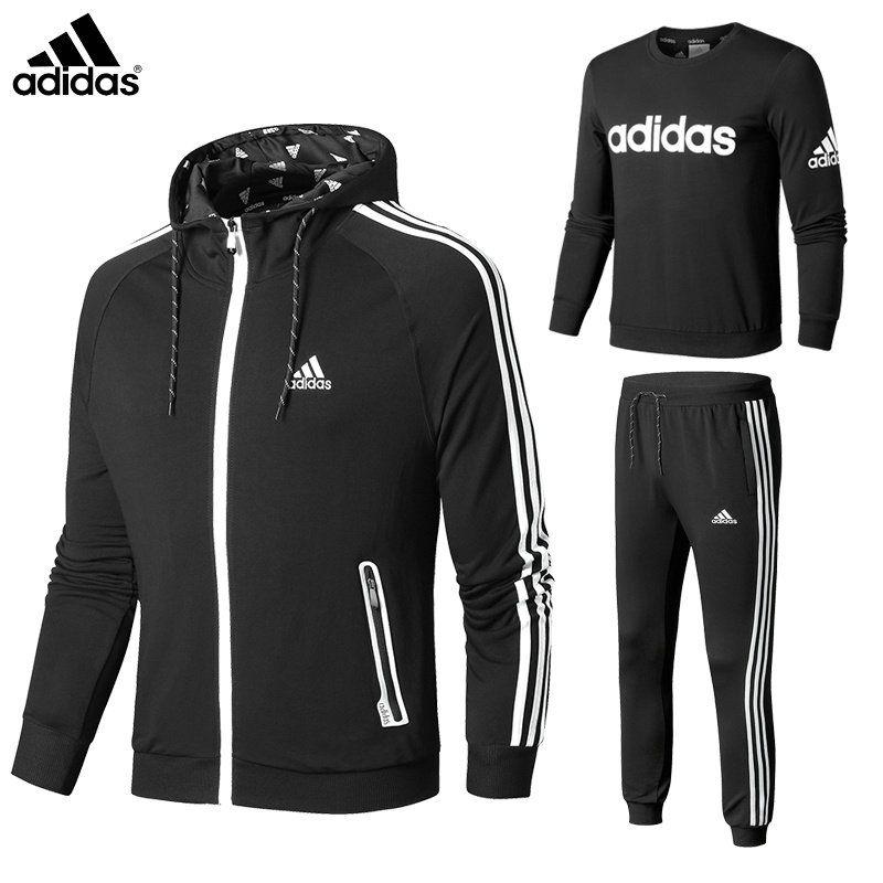 Finalmente Imperial Reorganizar  2018 Fashion Adidas 2018 Spring Pure cotton Three-Piece Suit XS-3XL 47368  Triple Black | Moda masculina, Moletons, Moda