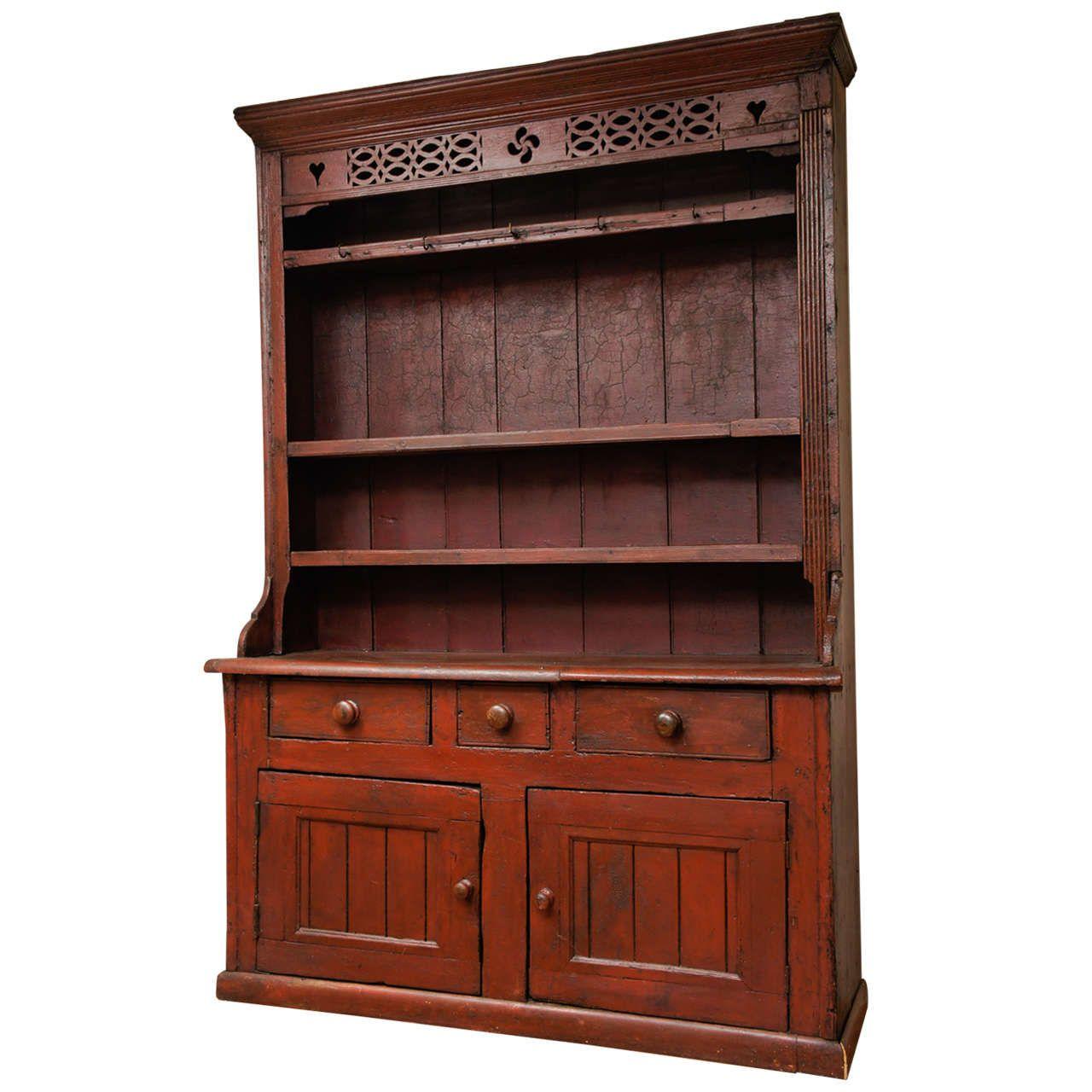 Irish Dresser In Original Paint