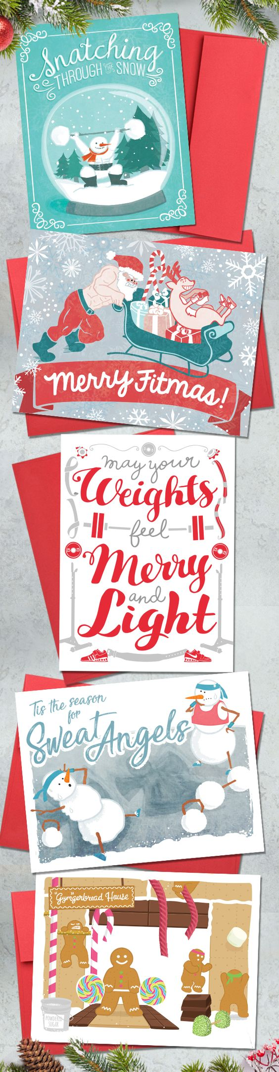 CrossFit Christmas Gift Ideas! Holiday Greeting Cards for coaches ...