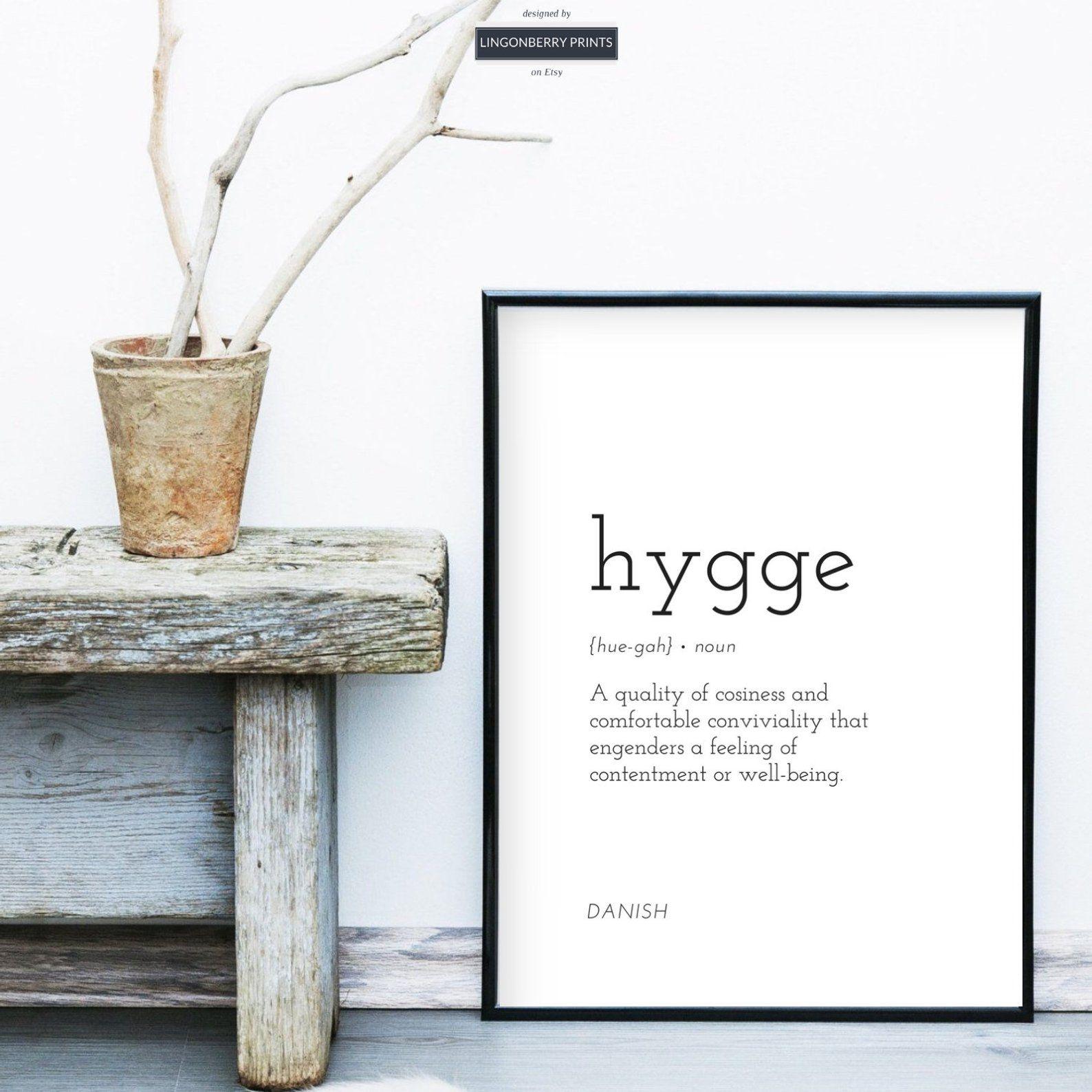 Hygge Definition Print Danish Swedish Scandinavian Nordic Etsy Definition Prints Typography Wall Art Room Artwork