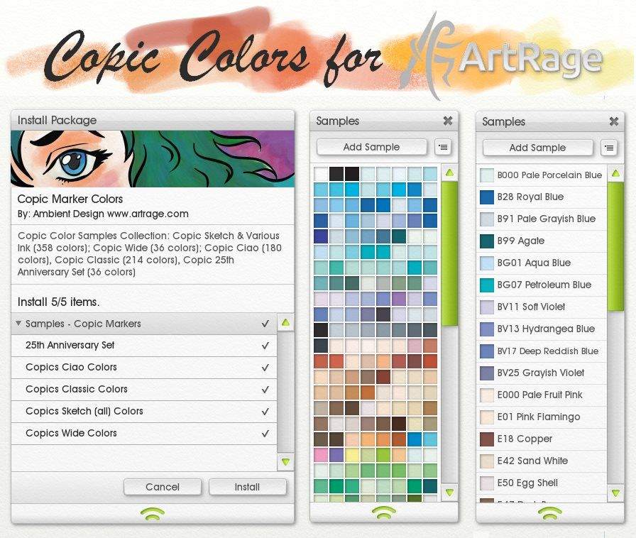 Copic Colors For Artrage By Artrageteam Deviantart Com On Deviantart Artrage Copic Coloring Copic