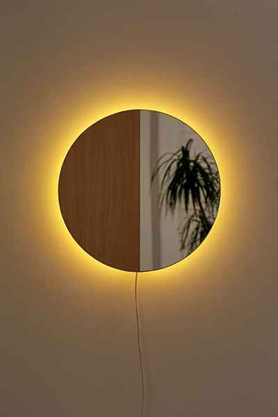 Circle Mirror Sconce | Spaces, Bedrooms and Room ideas
