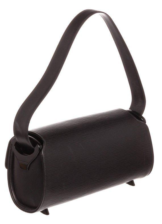 ca4858f7 AUTHENTIC Louis Vuitton Black Epi Leather Nocturne PM Shoulder Bag ...