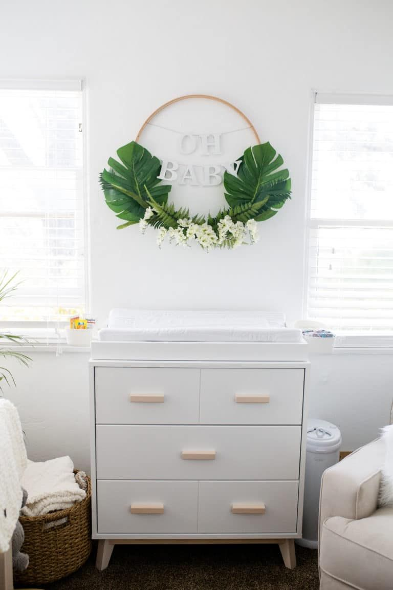 Modern Boho Nursery with a Punch of Tropics | Boho nursery ...