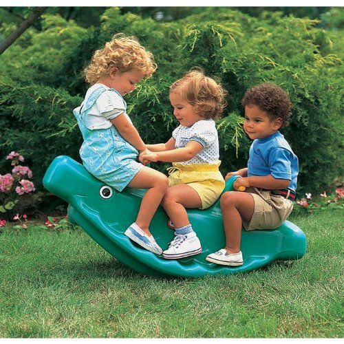 Amazon.com: Little Tikes Classic Whale Teeter Totter in Green: Sports & Outdoors
