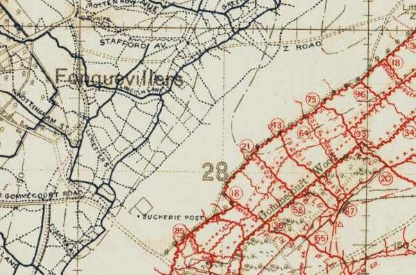 trench map | Cartography, Map, Battle of the somme