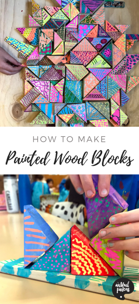 How to Make Painted Wood Blocks & Sculptures is part of Wood art projects, Wood projects for kids, Kids art projects, Easy wood projects, Painting for kids, Wood blocks - An easy sculpture project using wood scraps that's fun to make for kids of all ages  by Danielle Falk of Little Ginger Studio  When I saw the giant tub of timber offcuts at my local creative reuse coop (Reverse Garbage) in Sydney, I knew I had to have a sackful! I didn't have a clue what my students and I would make but I wanted to get my hands on some  The tactile quality and lovely natural smell of raw pine was too hard to resist  If only I'd been greedier and bought twice as much! We loved this project so much I plan to buy planks of wood and cut them specifically for this activity next time  What will kids gain from working in wood  There is something very therapeutic about working with wood  My students (ages 512) really enjoyed lovingly sanding their wood blocks to smoothed perfection! Students learned to create balanced compositions in three dimensions and looked carefully at each side of their work  They also gained a an understanding of using a bigger base to hold up smaller pieces (basic engineering!)  How to Make Wood Blocks MATERIALS RAW pine offcuts (may be available from your
