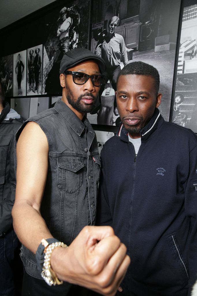 RZA and GZA at the Coachella after-party, hosted by the Haus of Strauss