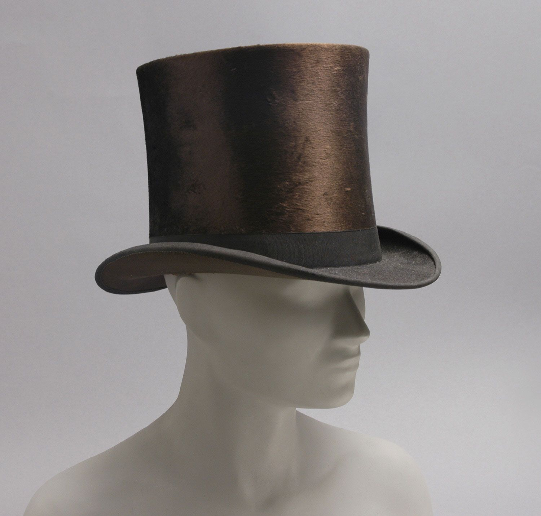 dfe7a364376 Late 19th Century Top Hat Culture  American Medium  beaver felt ...