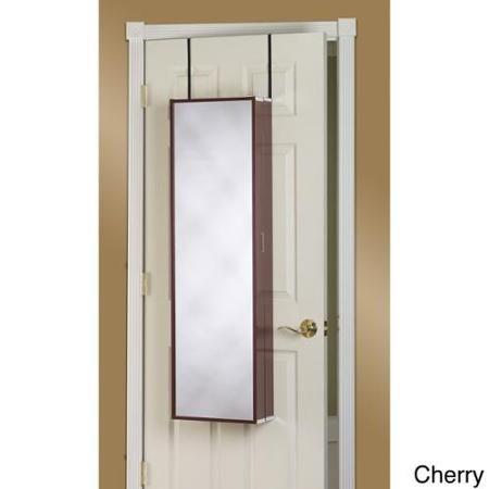 Over The Door Mirror Makeup Vanity Armoire White   Walmart.com