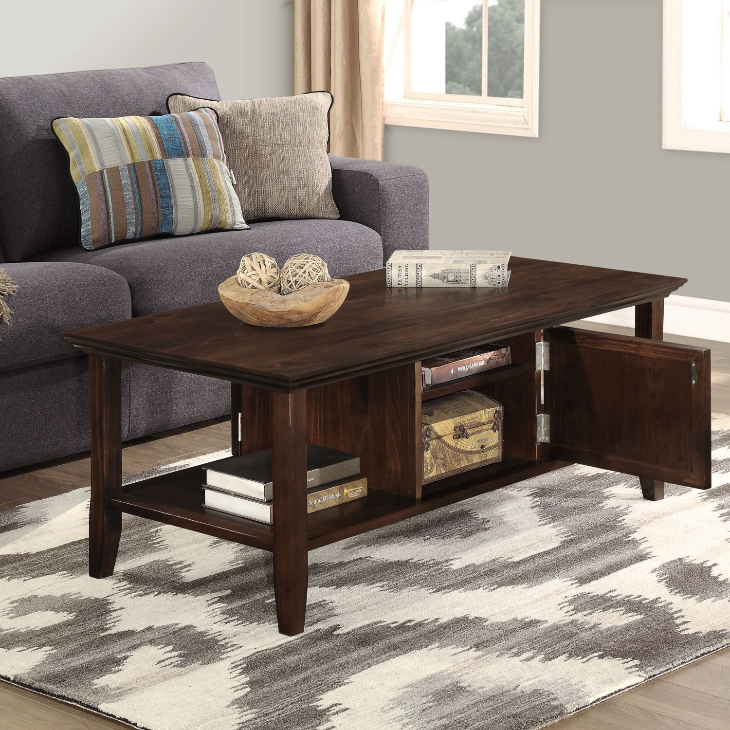 Small Coffee Tables Home Bargains: WYNDENHALL Normandy Tobacco Brown Coffee Table