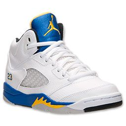 9aafc5c5b094 Boys  Preschool Air Jordan 5 Retro White Varsity Royal Varsity Maize ...