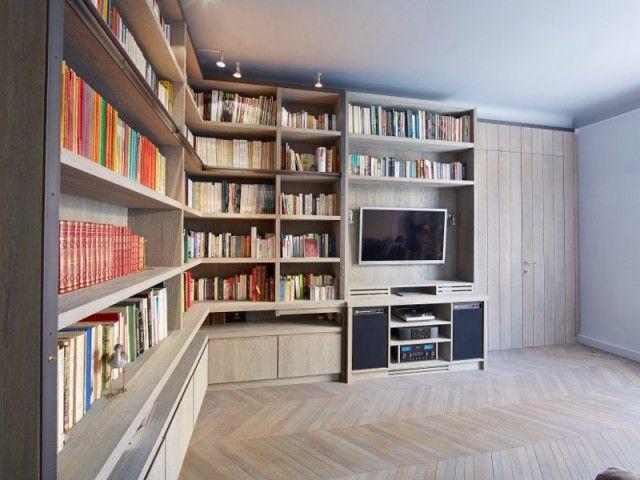 Aménagement intérieur  une bibliothèque d\u0027ébéniste pour sublimer un