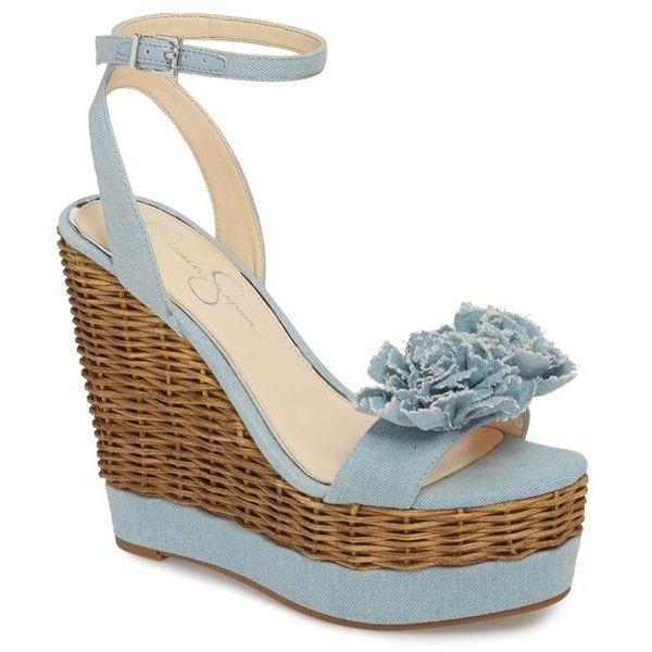 Jessica Simpson PRESSA - High heeled sandals - vintage blue L1VQzy