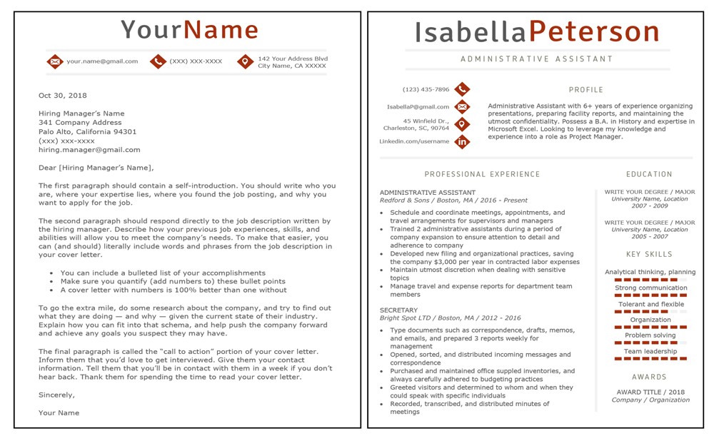 35++ Write my resume and cover letter Examples