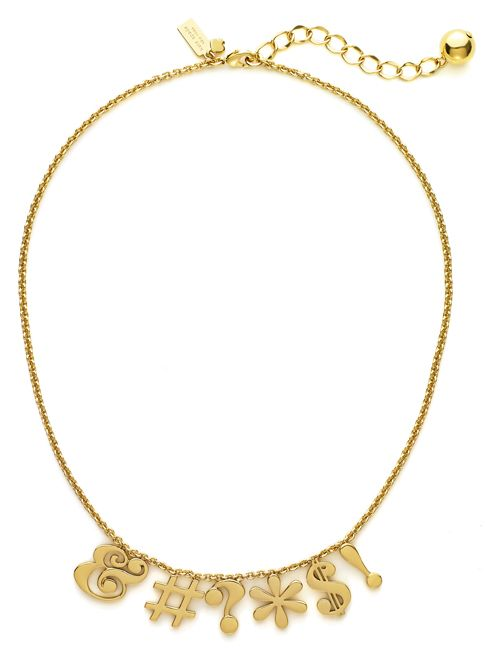 The Kate Spade 'Pardon My French' necklace