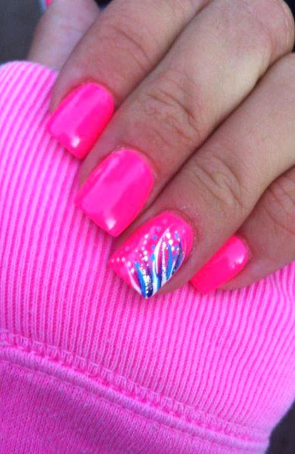Pin By Laurel Daisy On My Collections In 2020 Pink Nail Designs Pink Nail Art Designs Hot Pink Nails