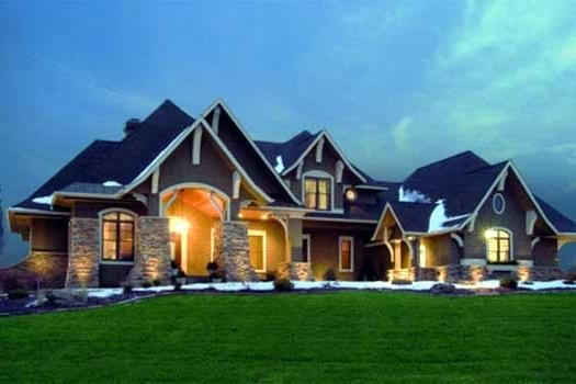 Craftsman style house plans 3651 square foot home 2 Craftsman lake house