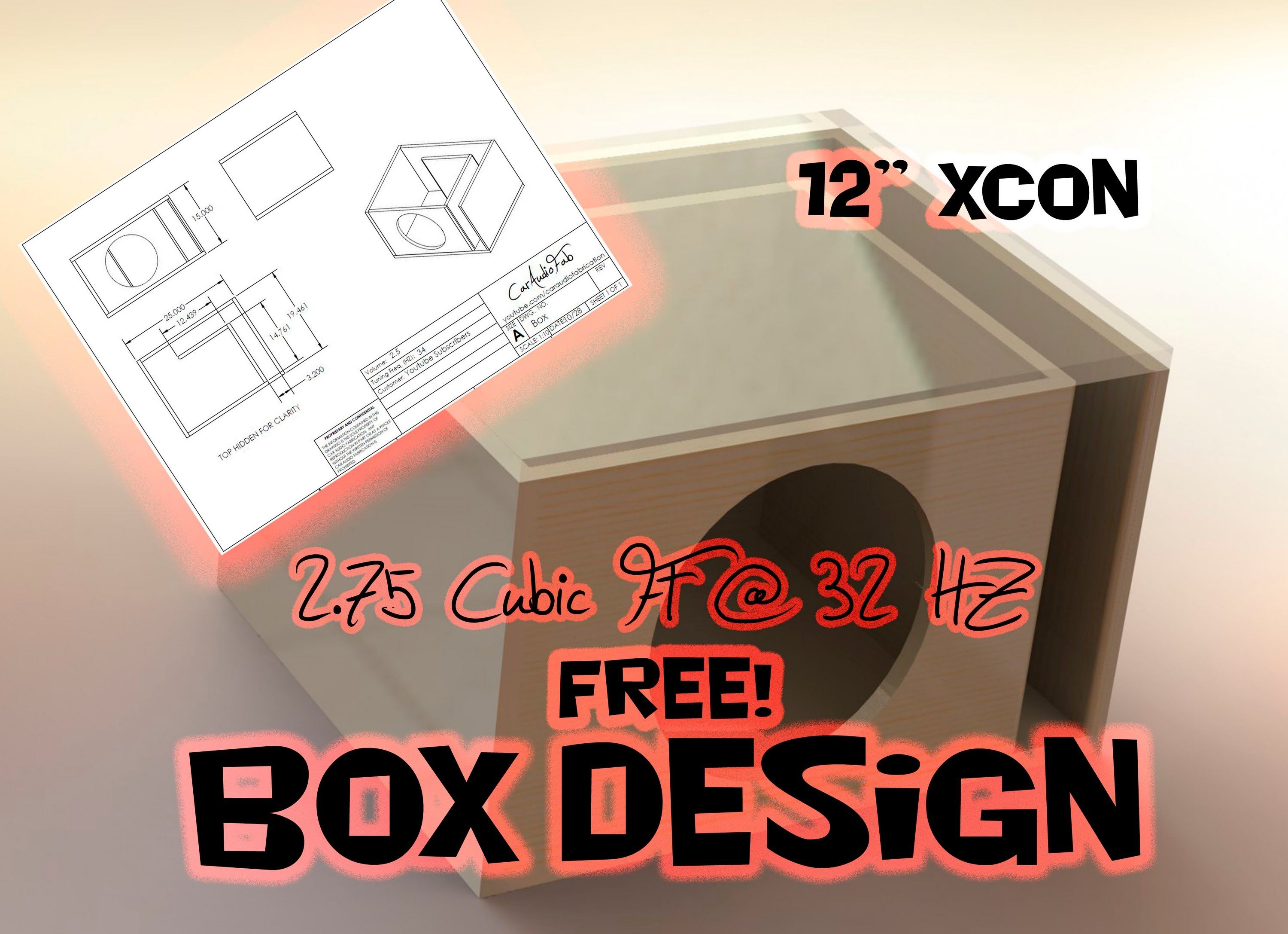 Subwoofer Box Design For 12 Inch Google Search Subwoofer Box Design Sub Box Design Diy Subwoofer Box