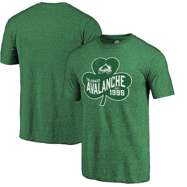 d5604a7ca53 Colorado Avalanche Fanatics Branded St. Paddy's Day Pride Tri-Blend T-Shirt  -