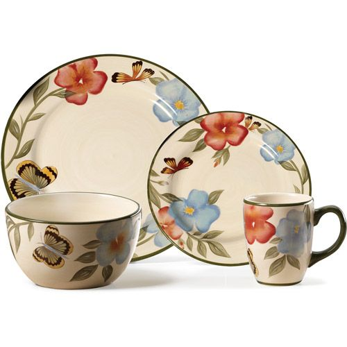 Kitchen Dishes Sets: It's Actually At WalMart! Pfaltzgraff Studio Butterfly