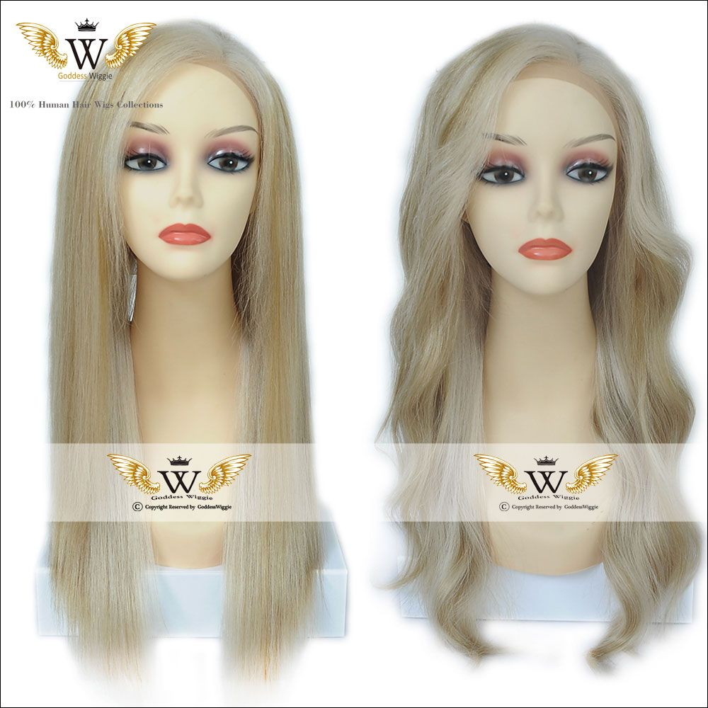 Find More Human Wigs Information about 7A 150 Density Lightest Blonde Full Lace Human Hair Wigs With Baby Hair…
