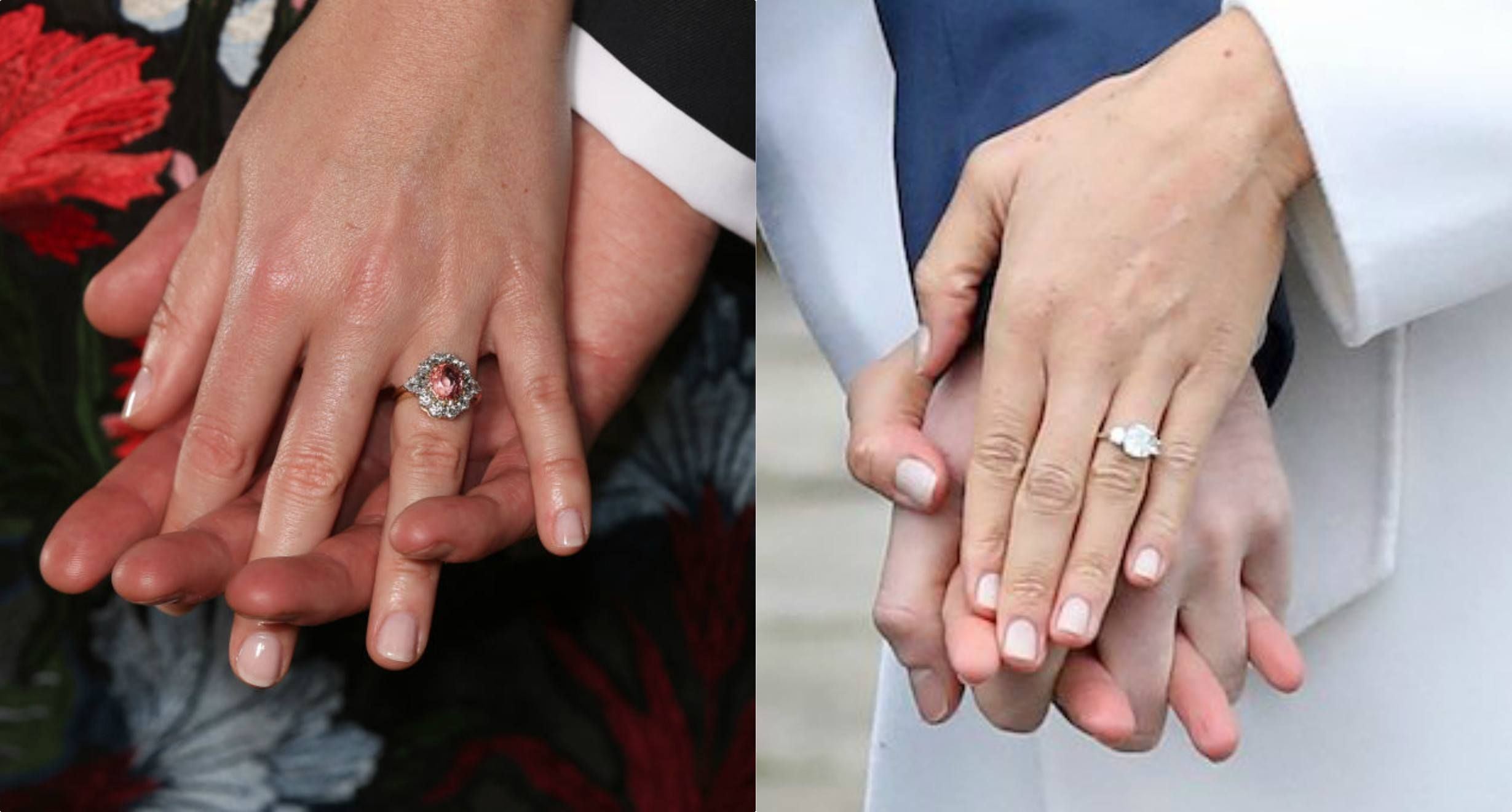 Engagement Rings L Princess Eugenie And R Meghan Markle
