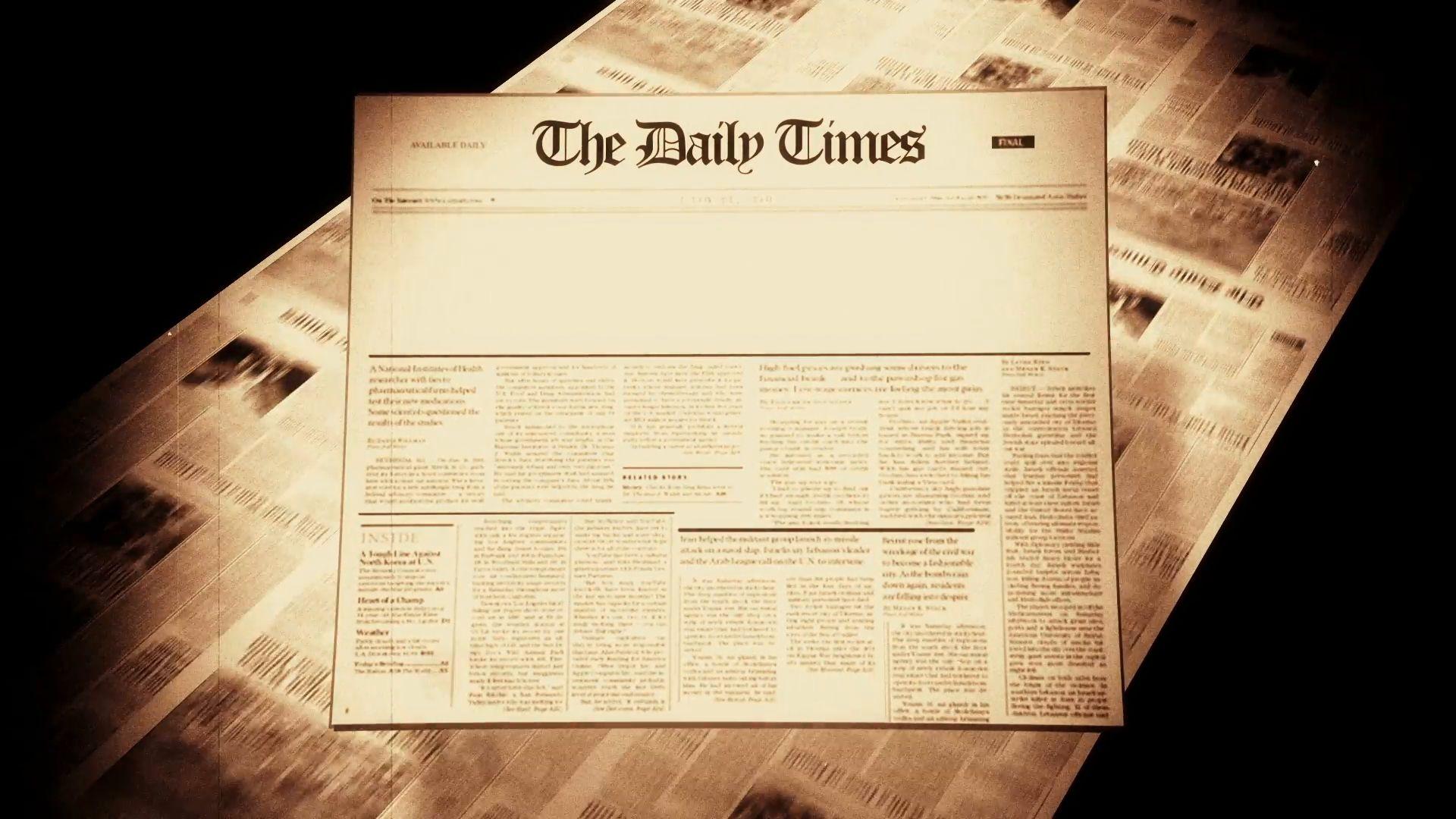 Old Newspaper Headline Blank Motion Background Videoblocks In Blank Old Newspaper Background20646 Newspaper Template Word Newspaper Template Word Free