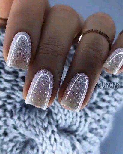 Photo of Sparkly White Nails 🌟 @loveliexk 💎