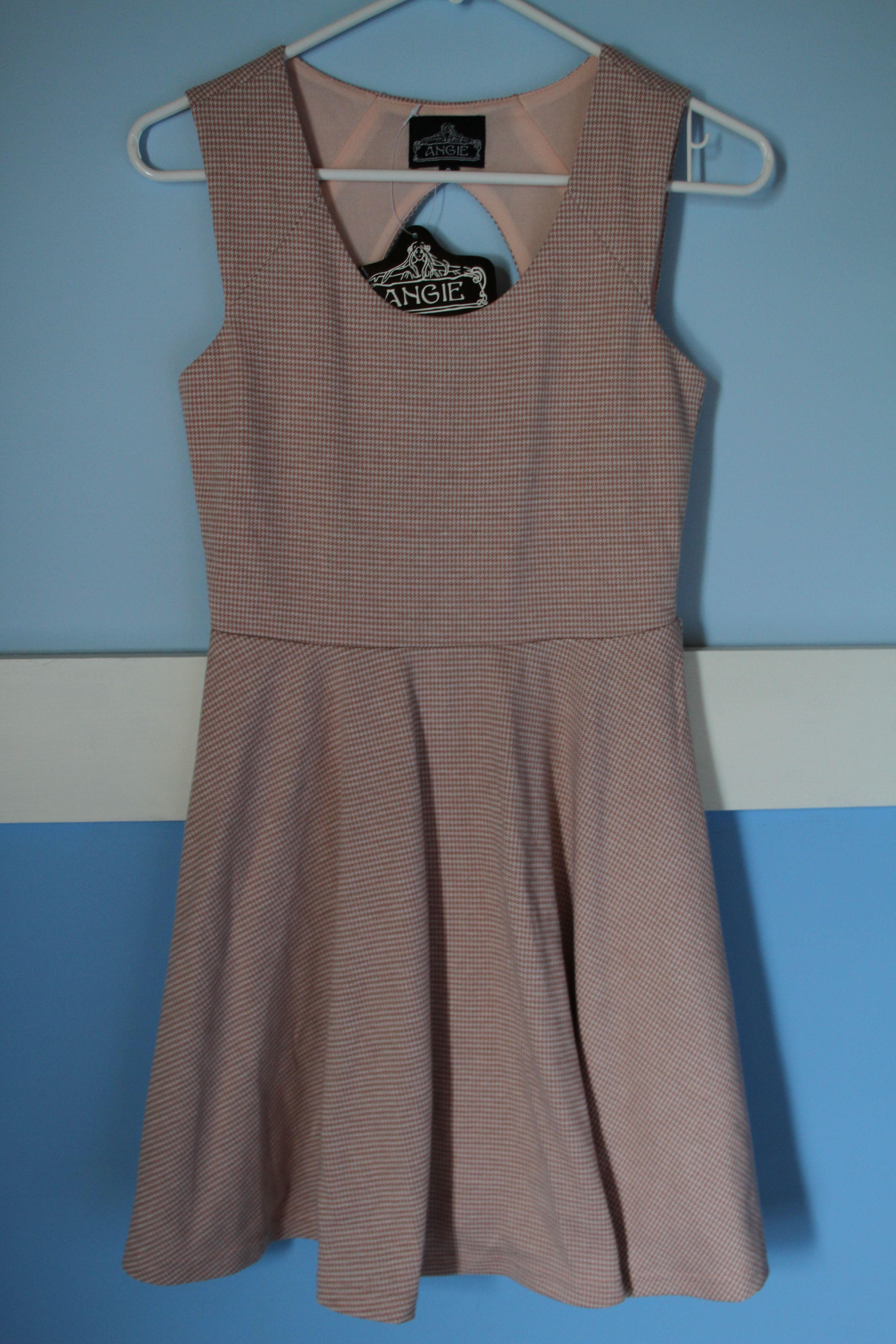 Small Pinkwhite Tiny Print Houndstooth DressSize Angie 22 9eWDIYEH2