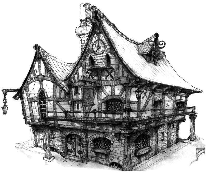 Locanda manga style arte ambientale casa disegno e paesaggi - Programmi progettazione casa gratis ...