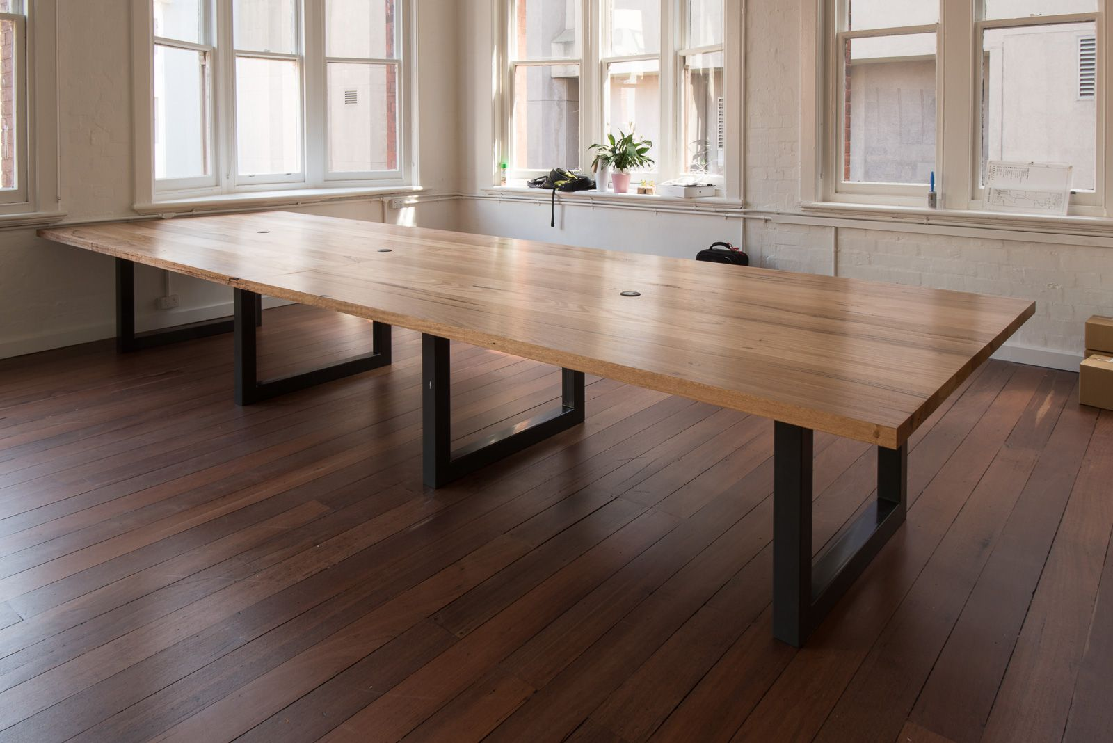 Recycled Mixed Victorian Hardwood Blend Communal Work Tables With - Communal work table