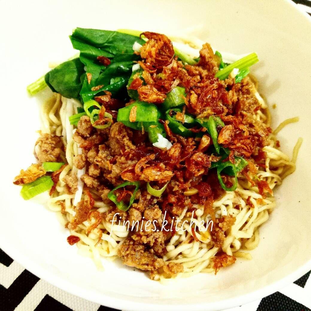 Resep Bakmi Bangka Dengan Babi Cincang Oleh Finnies Kitchen Resep Makan Malam Daging Babi Resep Daging