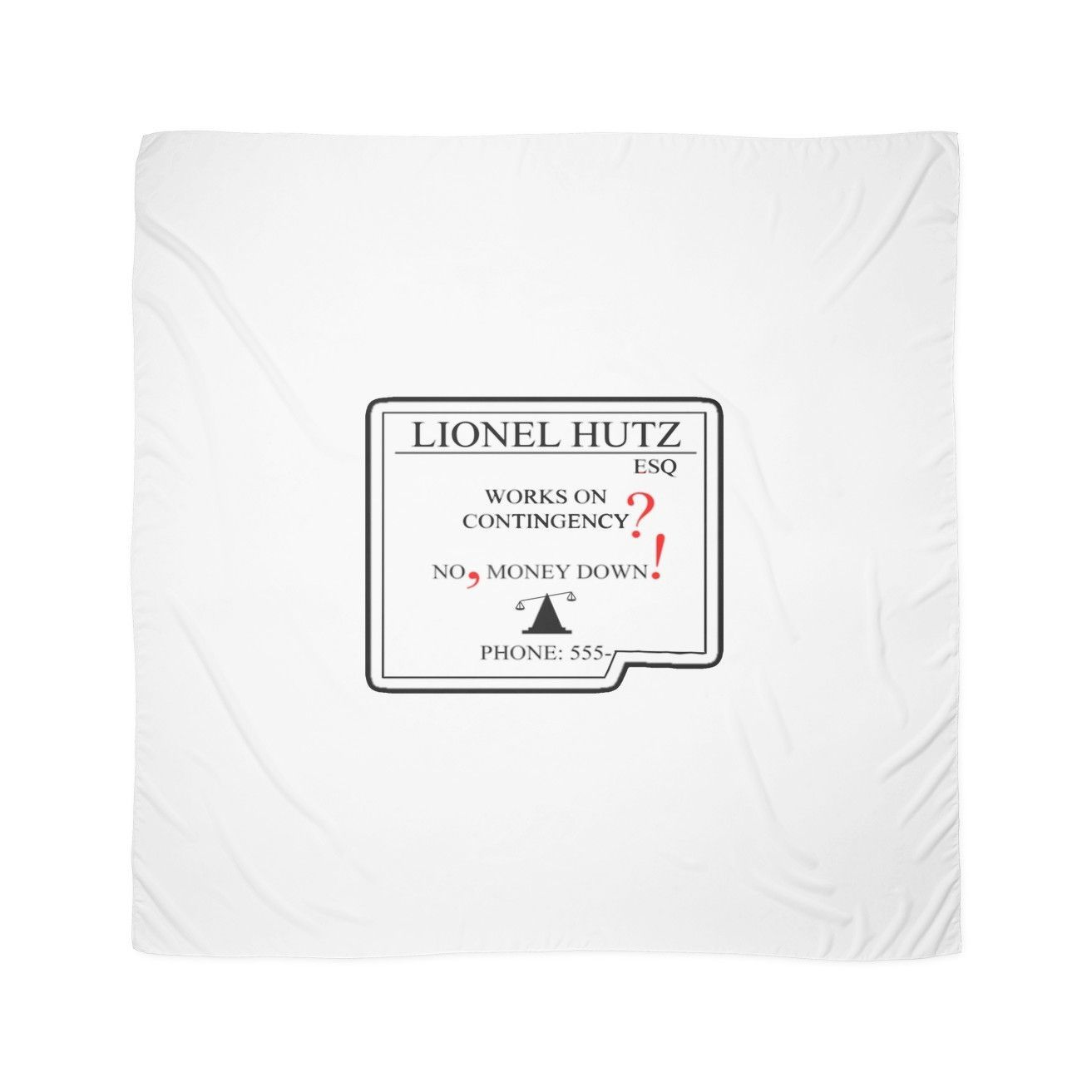 Lionel Hutz Business Card The Simpsons Scarves Products The