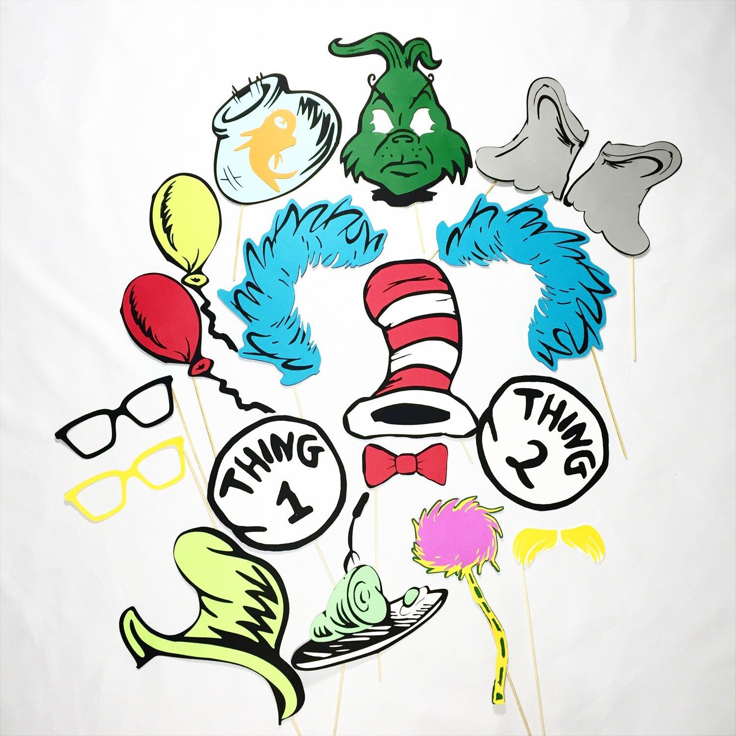 Cat in the Hat inspired party props **18 pc** dr seuss inspired ...