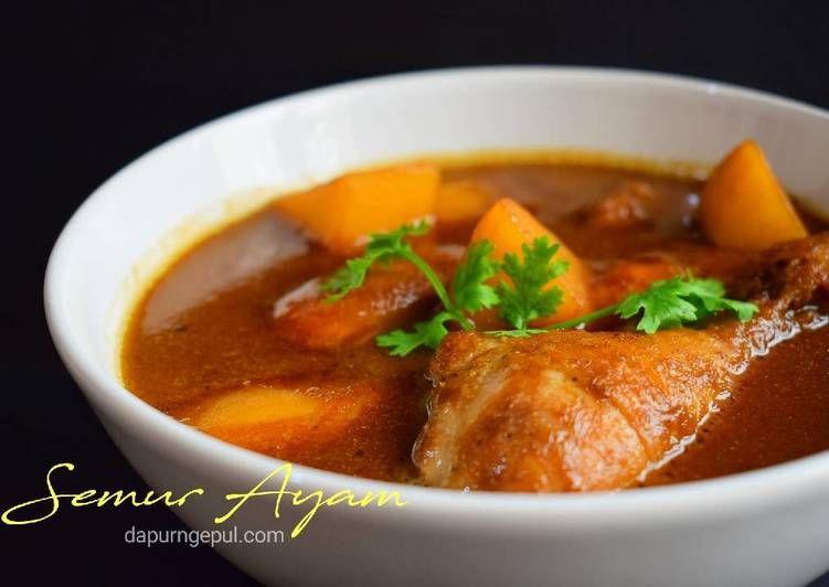 Resep Semur Ayam Mirip Semur Betawi Yummy Oleh Amalia Dapurngepul Com Resep Resep Masakan Indonesia Resep Masakan Memasak