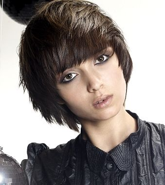 A medium brown straight choppy hairstyle by TPL Hairdressing