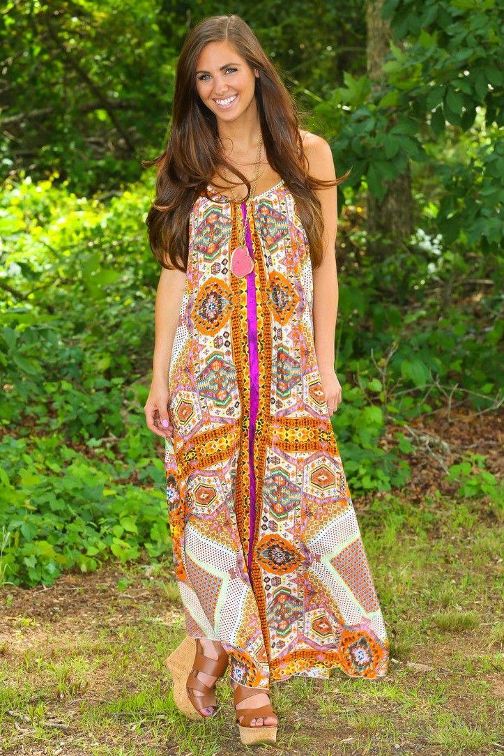 Universal Soul Maxi Dress-Spice - $44.00