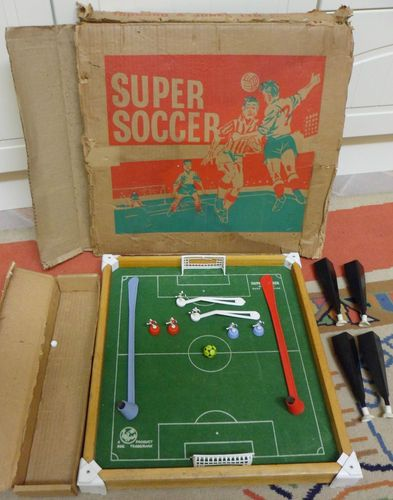 Vintage Super Soccer Table Magnetic Football Game Boxed Made In England Soccer Table Games Box Football Games