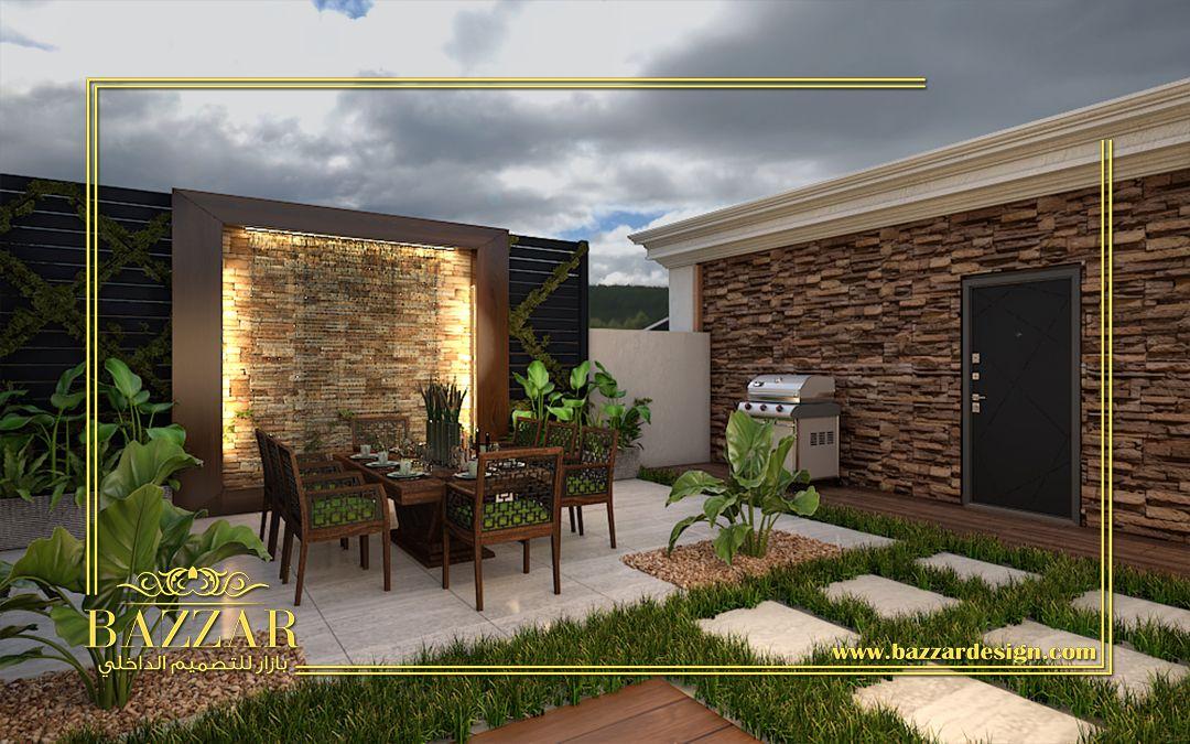 روف مودرن مع ارضية من البورسلين والنباتات الطبيعية والصناعية House Designs Exterior House Design Outdoor Decor