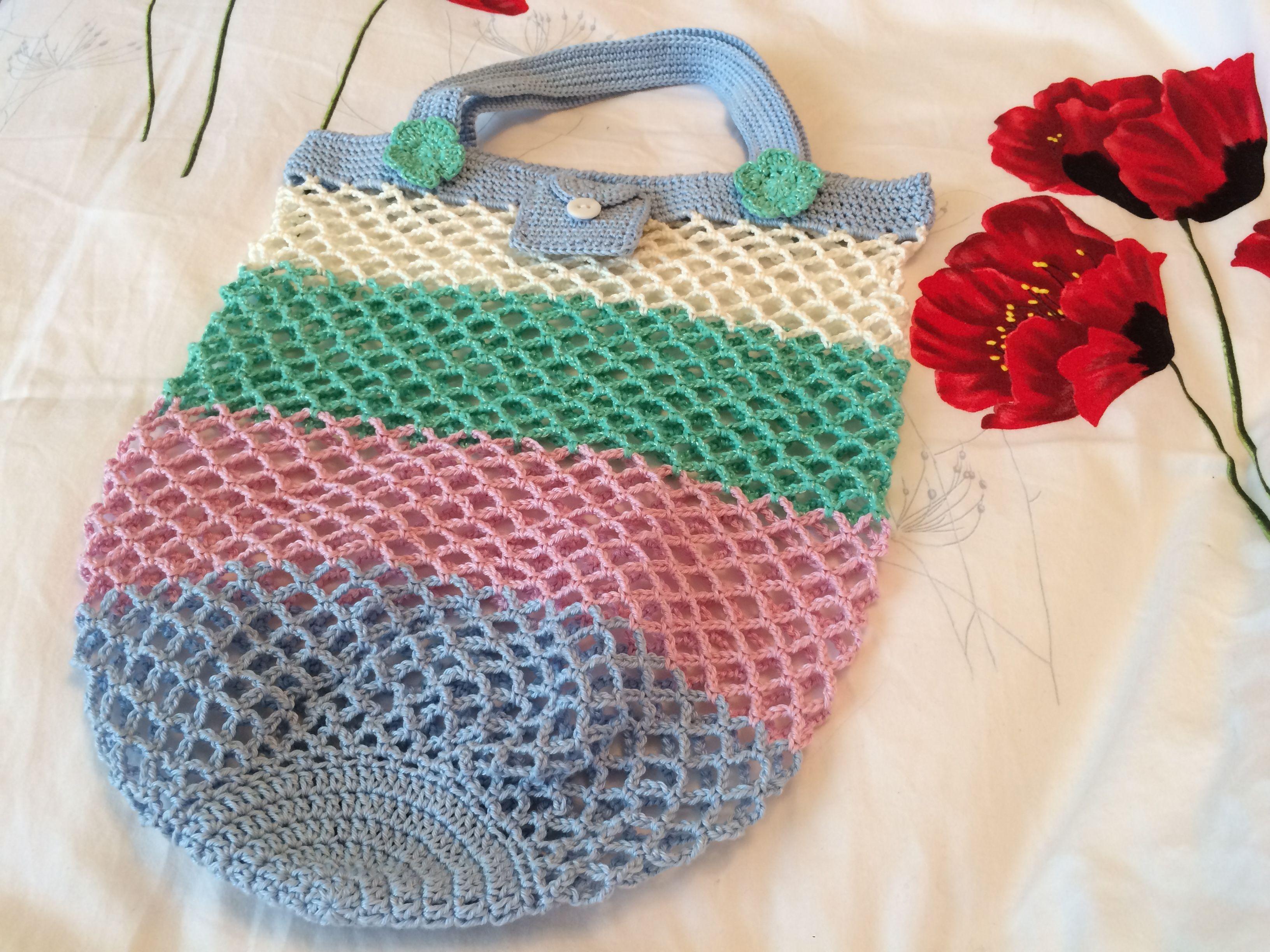 Gehäkelte Einkaufstasche | Meg | Pinterest | Einkaufstaschen und Häkeln